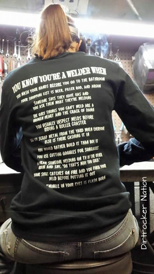 You Know You Re A Welder When Long Sleeve T Shirt By