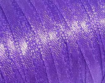 1 Metre Satin 3 mm Purple Ribbon, Skinny Ribbon Purple 3 MM Satin Ribbon, Ribbon Purple 3 mm Ribbon, Narrow Ribbon