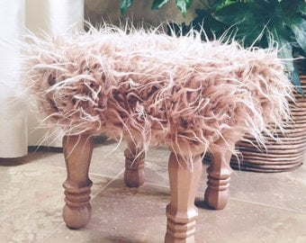 Wood Foot Stool Etsy