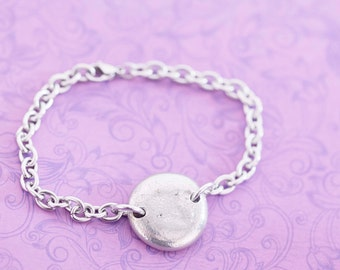 Cremation Bracelet - Pewter Memorial Stone with Ashes - Cremation Jewelry - Engraved Jewelry - Urn Bracelet - Pet Memorial - Ash Bracelet