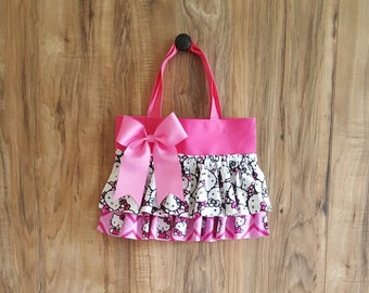 Pink Hello Kitty Little Girl Ruffled tote/bag/purse