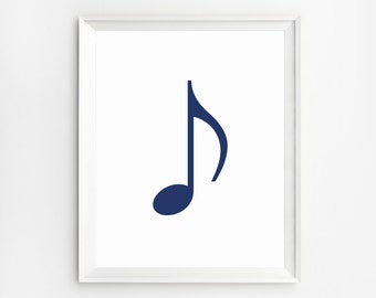 Wall Art, Prints, Music Note Print, Poster, Art Print, Music Wall Art, Prints, Music Print, Wall Art Prints, Poster, navy blue Print, Music