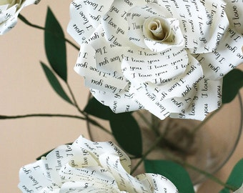 Paper Rose | 1st Paper Anniversary, Wedding or Romantic Gift for Her 'I Love You'
