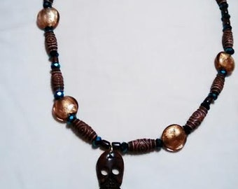 Wooden Man Necklace