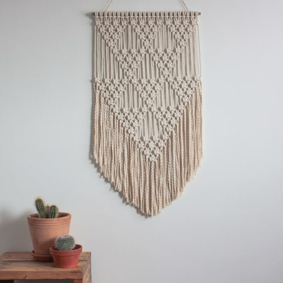 Macrame Wall Hanging Triangles 100 Cotton Cord In