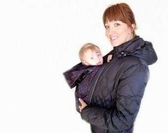 Babywearing Coat Winter Insert with Hood | Baby wearing Coat Waterproof Insert | Baby Carrier Cover