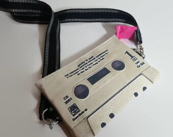 Pretty In Pink 80s Movie Soundtrack Large Cassette Tape Shoulder Bag Purse Retro