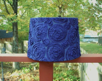 Custom Navy Blue Rosette Lamp Shade Lampshade