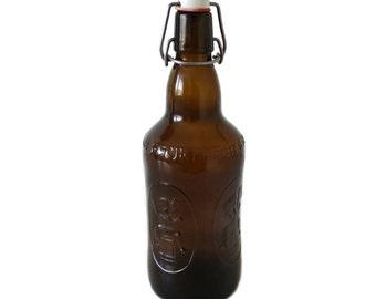 Vintage French Beer Bottle - Fischer Beer Bottle - Brown Glass Beer Bottle