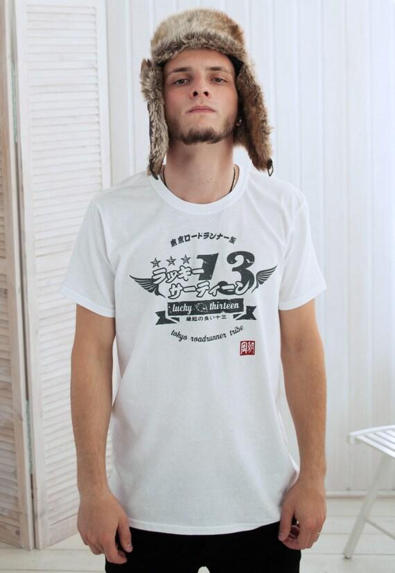 japanese shirt lucky 13 japan lucky thirteen retro