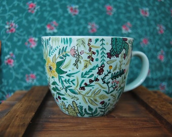 Floral Print Mug