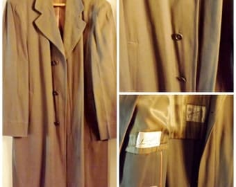 60s Gray Trench Coat Overcoat Size XL by Park Circle  Topper Coat or Car Coat