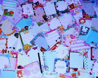 120 Kawaii Mini / Small Memo Sheets from Japan / Japanese Stationery + 20 Bonus Sheets