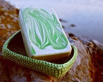 Antibacterial Foot Soap, Tea Tree and Eucalyptus Soap, Athlete's Foot Soap, Detox Bar for Feet, Green Clay, Sports Soap