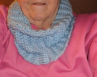 Crochet cowl or neck warmer