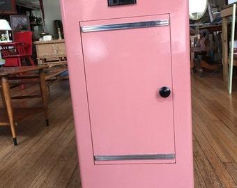 Mid Century Pink Metal Dental Cabinet Castle Sterilizer Autoclave