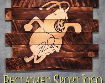 University of Arkansas Boll Weevils, FREE UV protector, 30X23, Burnt wall hanging, Shou Sugi Ban, Charred wood, Wood Sports sign, Rustic