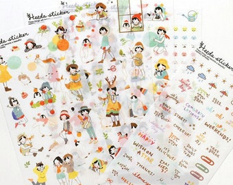 Heeda Heidi sticker set 6 sheets (A 1010)