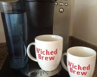 New England/Bostonian Wicked Brew Mugs