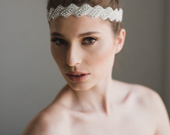 Rhinestone Headband | Silver Bridal Headband | Silver Crystal Bridesmaid Headband | Bridal Headpiece | Whitney Headband