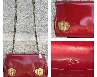 SALE -40% - RODO - 60s Rodo Bag - Vintage Red Rodo Bag - Rodo Patent Leather Bag