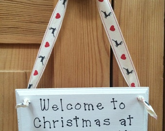 Christmas Hanging Decoration/Sign/Plaque