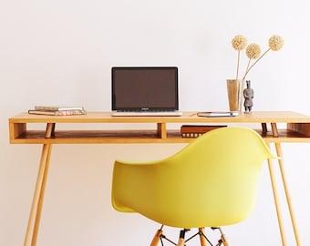 Computer Desk, Solid Wood Desk, Industrial Desk, Work Desk, Home Office Desk, Computer Table, Handcrafted Desk, Dorm Desk, Retro Desk