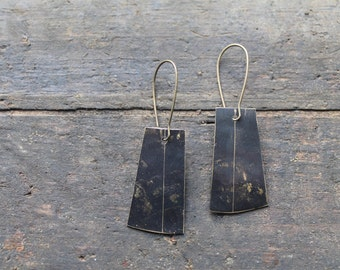 Etched Brass Earrings by YeouDesigns