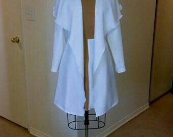 Olive White Wrap Coat,