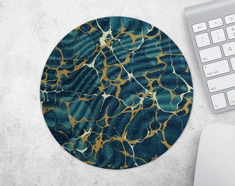 Marble MousePad, Mouse Pad, Moroccan Mouse Mat, Green Marble Mat, Marble Mouse Pad, MouseMat, Gift for Coworker, Office Desk Accessories