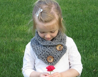 The Layla Crochet Cowl, Toddler and Child cowl