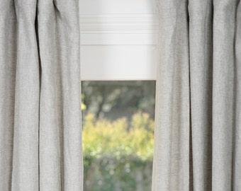 Belgian Linen Drapes Gray Belgian Flax linen curtains gray linen curtains linen draperies drapes with lining window treatment window curtain