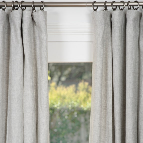 Belgian Linen Drapes Gray Belgian Flax Linen Curtains Gray Linen Curtains  Linen Draperies Drapes With Lining