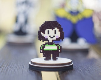 Undertale Chara two-sided collectible figurine game souvenir on a stand