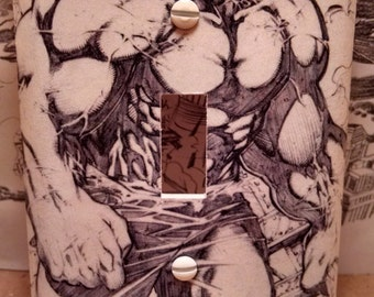 Incredible Hulk Light Switch Cover (Handmade, Marvel Comics, Avengers)