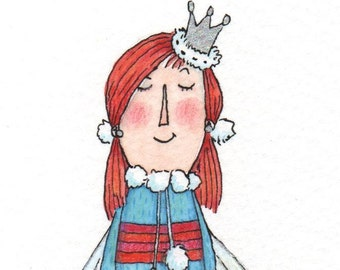 Fairy with striped and spotty dress