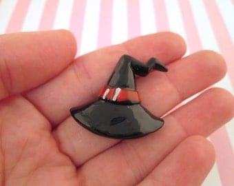 Witch Hat Cabochons, Cute Halloween Cabochons, #704