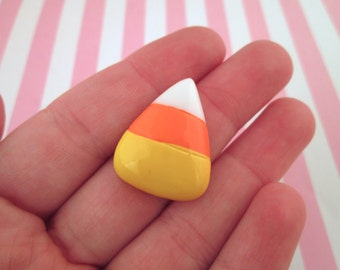 Candy Corn Cabochons, Cute Halloween Cabochons, #719