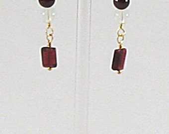 Earrings - Garnets & Moonstones (E065, 066)