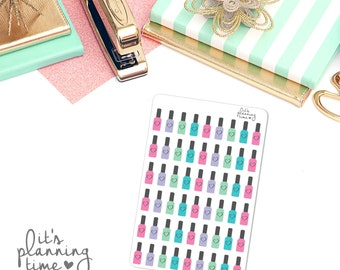 Mini Nail Polish Stickers- 54 count