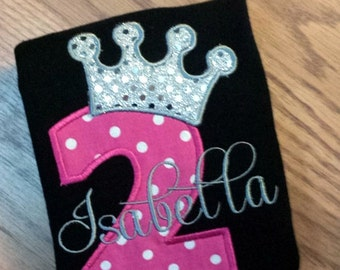 Princess Tiara Birthday Shirt - ANY Age