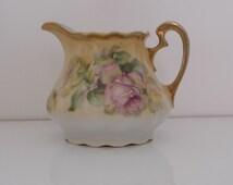 Antique Porcelain Creamer by Beyer & Bock Royal Rudolstadt Prussia
