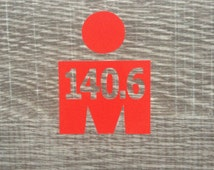 140.6 Ironman Triathlon Distance M-dot Vinyl Sticker