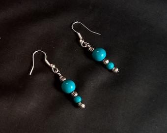 Light Blue Dangle Earrings, Dangle Earrings, Hook Earrings, Earrings, Jewelry, Inexpensive Jewelry, Girls Gifts Under Ten Dollars