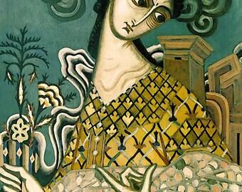"Dmitry Stelletsky ""Dawn"" 1910  Reproduction Digital Print Woman Symbolism Modern Art"