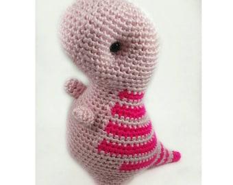 T-Rex Plush Toy, Pink T-Rex Doll, Amigurumi T-Rex, Handmade Toy, Crochet T-Rex, Dinosaur Toy, Pink Dinosaur Stuffed Animal, Pink T-Rex Toy