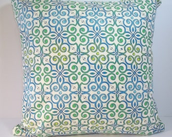 Waverly Interlocked Capri throw pillow cover 18 x 18 decorative pillow cover accent pillow
