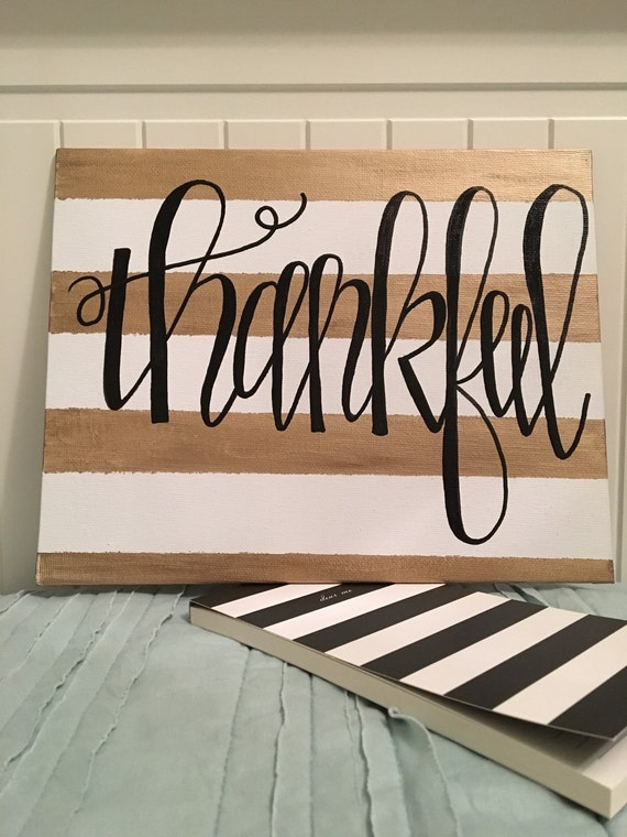 thankful 8x10 canvas quotes on canvas wall art home