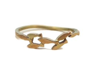 Swimming Shoal of Fish Ring -9K Gold - Ocean Jewellery by Sophie Jade Jewellery
