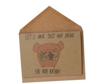 funny birthday card/ 21st birthday card/ funny birthday card/ alcohol birthday card/ vodka birthday card/ funny best friend card/
